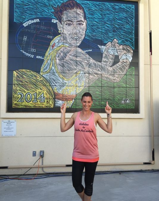 Mural of BNP Paribas 2014 Champ Flavia Pennetta Unveiled
