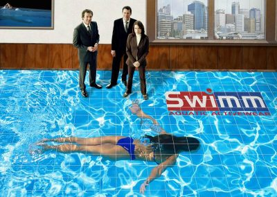 Swimm Floor Mural