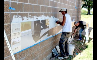 New Route 66 Mural Goes Up at Park